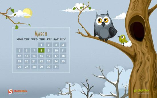 Wallpapers ημερολόγια Μαρτίου 2012 (2)