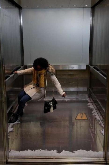 Τρομακτικές οφθαλμαπάτες σε ασανσέρ (3)