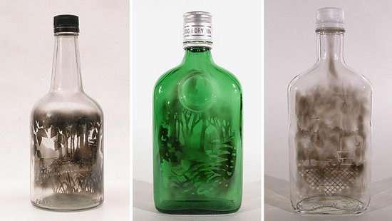 Ζωγραφική με καπνό μέσα σε μπουκάλια (1)