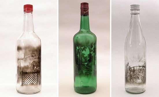 Ζωγραφική με καπνό μέσα σε μπουκάλια (2)