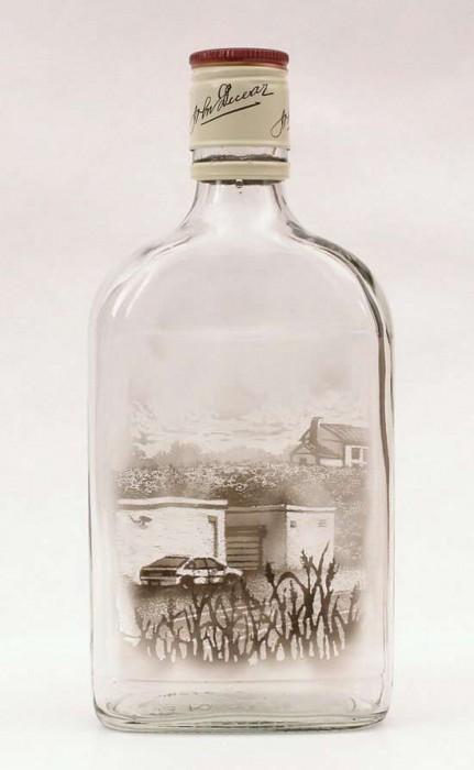 Ζωγραφική με καπνό μέσα σε μπουκάλια (3)
