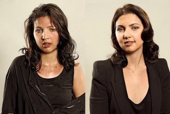 Άνθρωποι πριν και μετά τη γυμναστική (1)