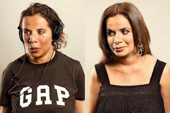 Άνθρωποι πριν και μετά τη γυμναστική (3)