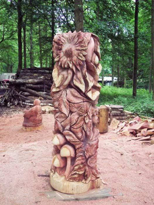 Απίστευτα γλυπτά με αλυσοπρίονο σε κορμούς δέντρων (9)