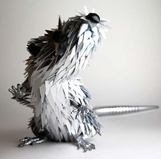 Γλυπτά ζώων από σπασμένα CDs (7)