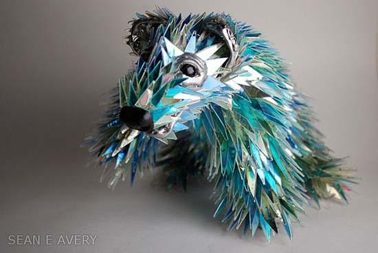 Γλυπτά ζώων από σπασμένα CDs (9)