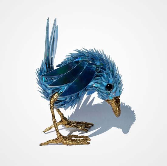 Γλυπτά ζώων από σπασμένα CDs (14)