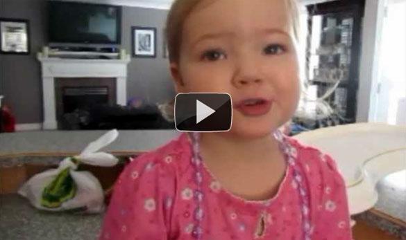 Κοριτσάκι 2 ετών τραγουδάει Adele