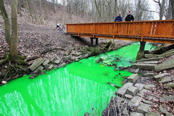 Φωτογραφία της ημέρας: Το πράσινο ποτάμι (1)