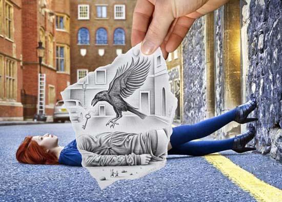 Φωτογραφία + Σκίτσο = Απίστευτη τέχνη (6)