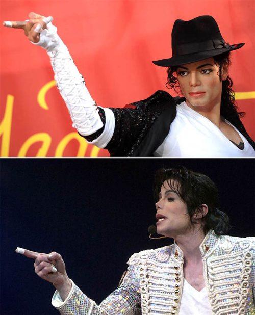 Διάσημοι φωτογραφίζονται με τα κέρινα ομοιώματα τους (10)