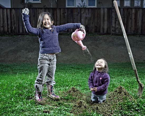 Δημιουργικός πατέρας φωτογράφος βγάζει εκπληκτικές φωτογραφίες με τις κόρες του (1)