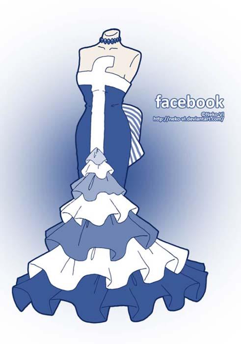 Φορέματα εμπνευσμένα από το Facebook και άλλα δημοφιλή sites (1)
