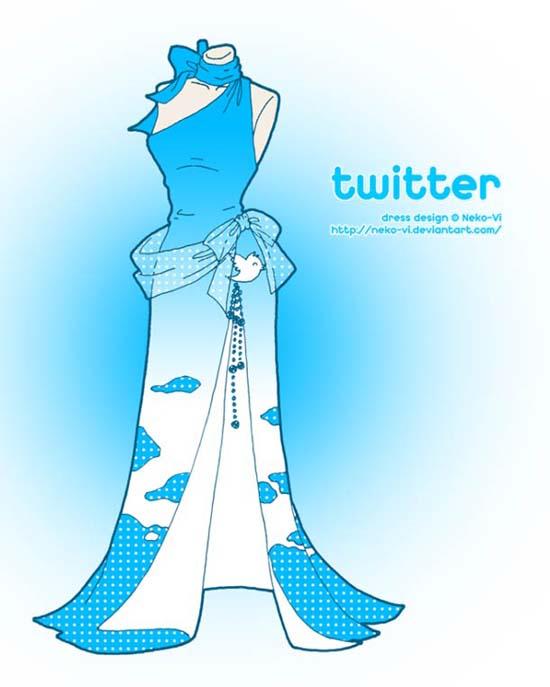 Φορέματα εμπνευσμένα από το Facebook και άλλα δημοφιλή sites (3)
