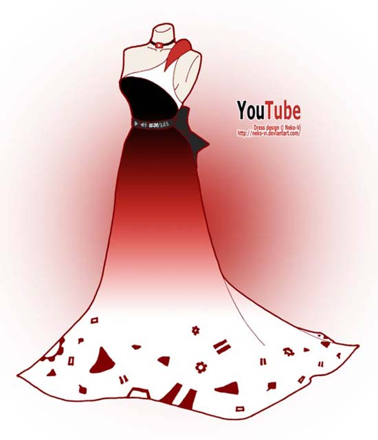 Φορέματα εμπνευσμένα από το Facebook και άλλα δημοφιλή sites (4)