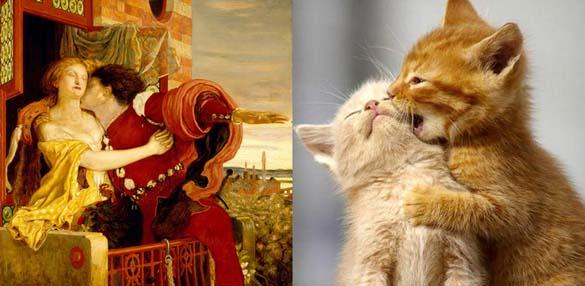 Όταν οι γάτες μιμούνται διάσημους πίνακες ζωγραφικής... (2)
