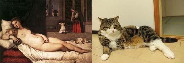 Όταν οι γάτες μιμούνται διάσημους πίνακες ζωγραφικής... (3)