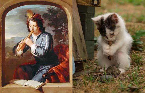 Όταν οι γάτες μιμούνται διάσημους πίνακες ζωγραφικής... (4)