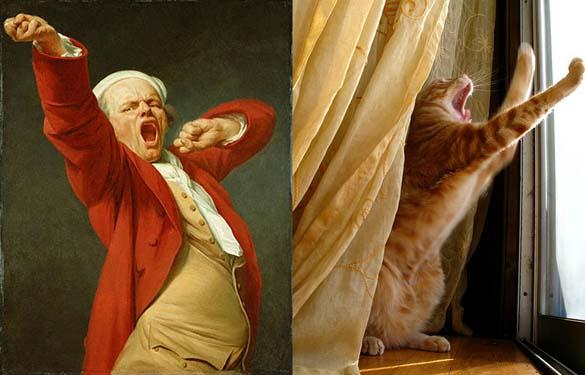 Όταν οι γάτες μιμούνται διάσημους πίνακες ζωγραφικής... (5)