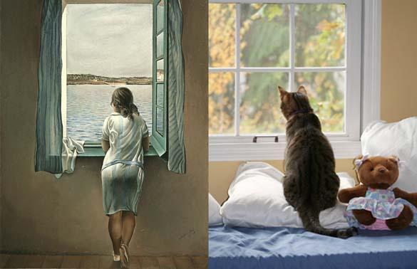 Όταν οι γάτες μιμούνται διάσημους πίνακες ζωγραφικής... (6)