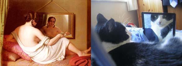 Όταν οι γάτες μιμούνται διάσημους πίνακες ζωγραφικής... (7)