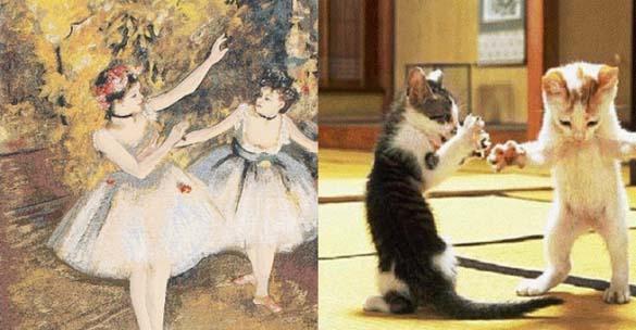 Όταν οι γάτες μιμούνται διάσημους πίνακες ζωγραφικής... (9)