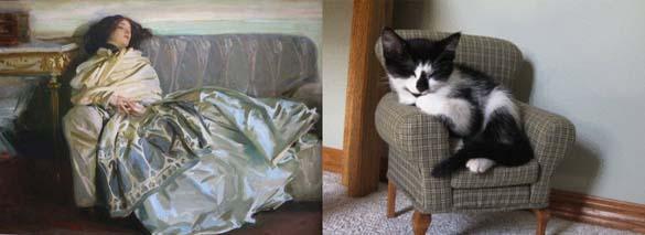 Όταν οι γάτες μιμούνται διάσημους πίνακες ζωγραφικής... (12)