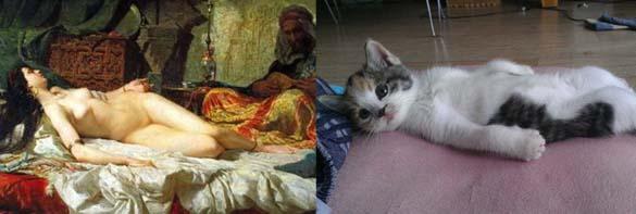 Όταν οι γάτες μιμούνται διάσημους πίνακες ζωγραφικής... (13)