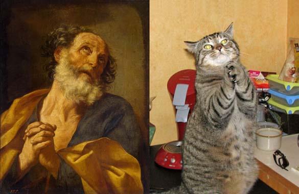 Όταν οι γάτες μιμούνται διάσημους πίνακες ζωγραφικής... (14)