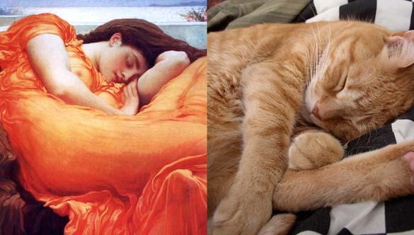 Όταν οι γάτες μιμούνται διάσημους πίνακες ζωγραφικής... (17)