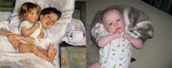 Όταν οι γάτες μιμούνται διάσημους πίνακες ζωγραφικής... (20)