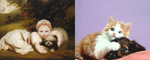 Όταν οι γάτες μιμούνται διάσημους πίνακες ζωγραφικής... (21)