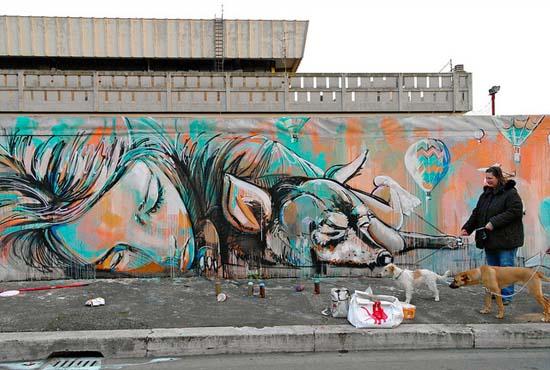Ξεχωριστή τέχνη του δρόμου από την Alice Pasquini (8)