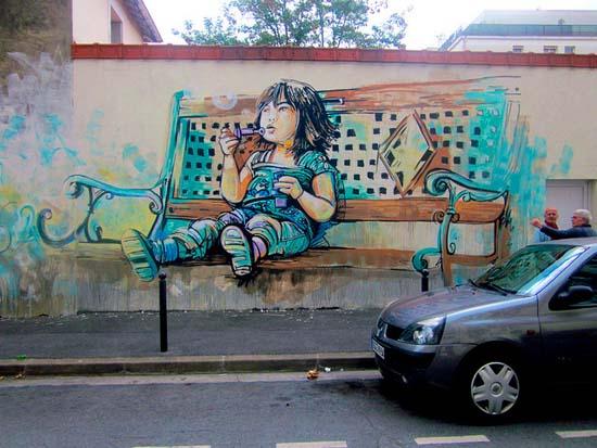 Ξεχωριστή τέχνη του δρόμου από την Alice Pasquini (9)