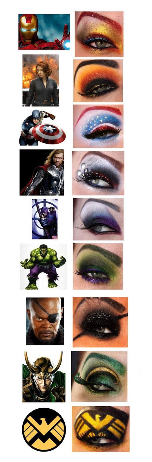 Μακιγιάζ ματιών εμπνευσμένα από την ταινία «The Avengers»