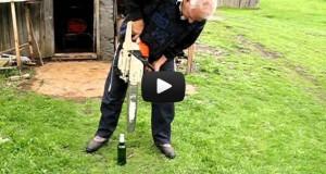 Πως να ανοίξετε μπουκάλι μπύρας με αλυσοπρίονο (Video)