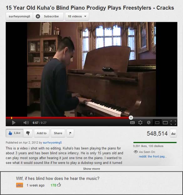 Παράξενα & ξεκαρδιστικά σχόλια στο YouTube (7)