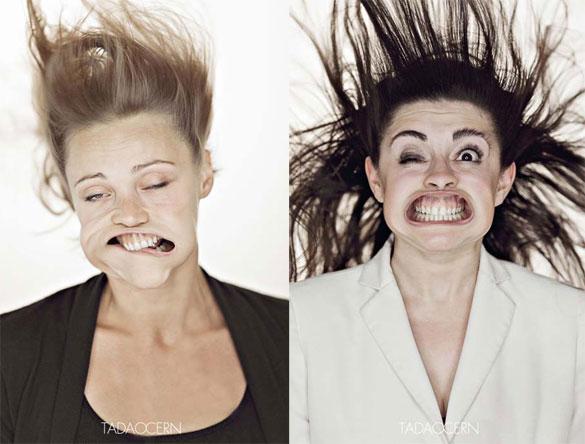 Ξεκαρδιστικά πορτραίτα με πεπιεσμένο αέρα