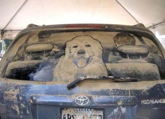 Τέχνη σε σκονισμένα αυτοκίνητα (7)