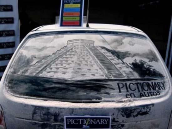 Τέχνη σε σκονισμένα αυτοκίνητα (9)