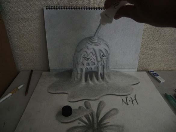 Εκπληκτικά 3D σκίτσα από τον Nagai Hideyuki (15)