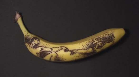 Μετατρέποντας μια μπανάνα σε έργο τέχνης (1)
