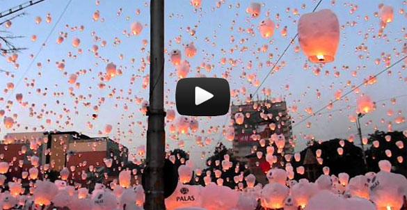 Παγκόσμιο ρεκόρ με χιλιάδες χάρτινα φανάρια στον ουρανό