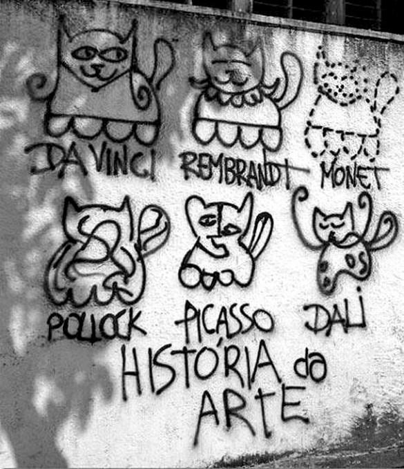 Η ιστορία της τέχνης σ' ένα τοίχο  | Φωτογραφία της ημέρας