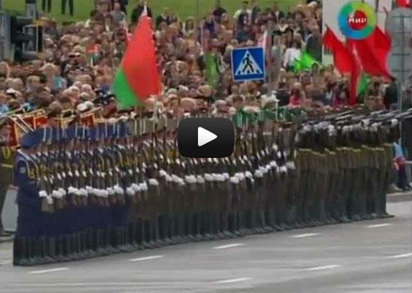 Απίστευτη στρατιωτική παρέλαση «ντόμινο» στη Λευκορωσία