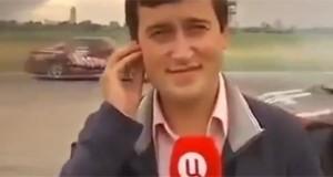 Αυτοκίνητο χτύπησε ρεπόρτερ κατά τη διάρκεια αγώνων (Video)