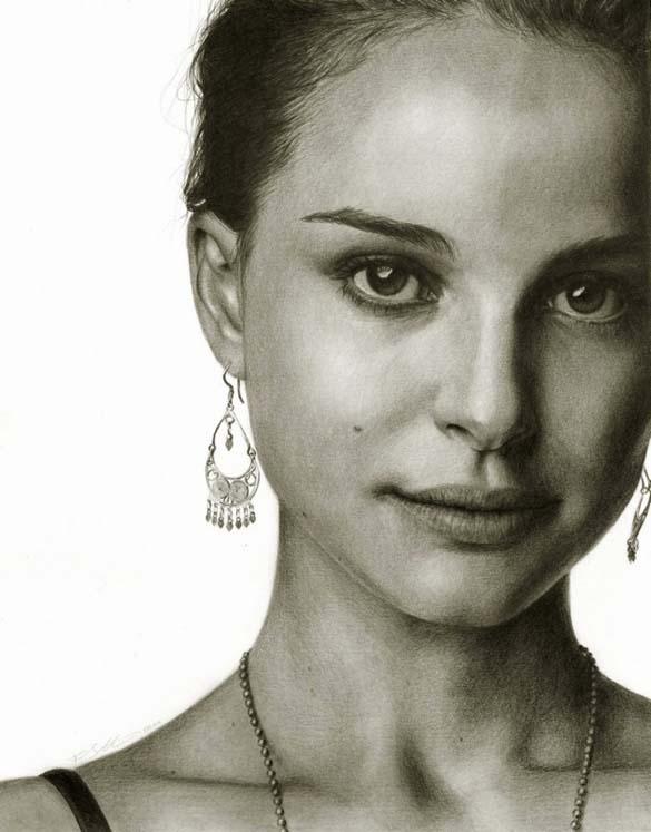10 εκπληκτικά πορτραίτα διασήμων με μολύβι και κάρβουνο ζωγραφικής (7)