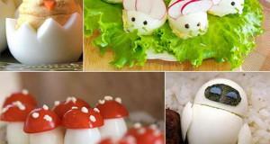 Εντυπωσιακές δημιουργίες με βραστά αβγά