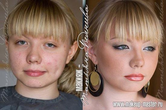 Γυναίκες με / χωρίς μακιγιάζ (8)