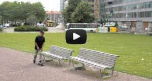 Κατέγραψαν τυχαία τη στιγμή που έπεσε τσιμέντο 2,5 τόνων πάνω σε λεωφορείο (Video)